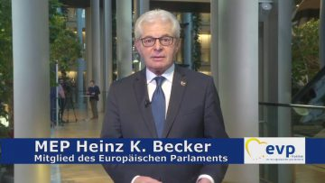 MEP Heinz K. Becker – Sicherheit Der EU Bürger Oberste Pflicht
