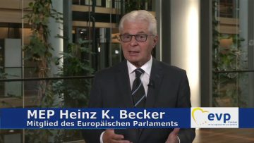 MEP Heinz K. Becker – Vorrang Für Schutz Geistigen Eigentums In E