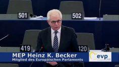 MEP Heinz K. Becker Zur Anti Terror Richtlinie