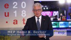 MEP Heinz K. Becker Zur Österreichischen EU Ratspräsidentsch