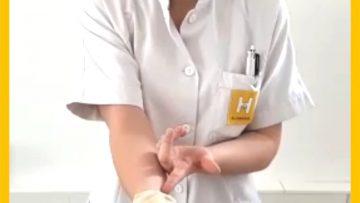 Handschuhe Ausziehen