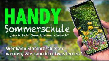 Handy Sommerschule, Mach Dein Smartphone Einfach
